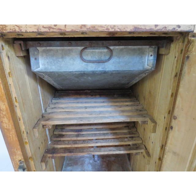 Vintage 1920s Oak Ice Box Refrigerator For Sale - Image 4 of 11