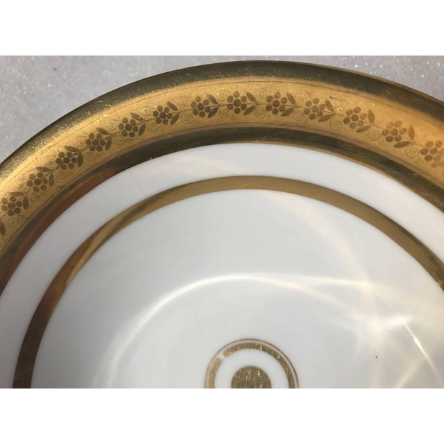 Ceramic Empire Porcelain Bowl With Cameo Profiles For Sale - Image 7 of 11