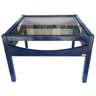 Blue Baumann Side Table