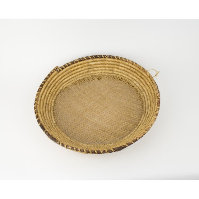 Yellow Large Bohemian Woven Basket For Sale - Image 8 of 8