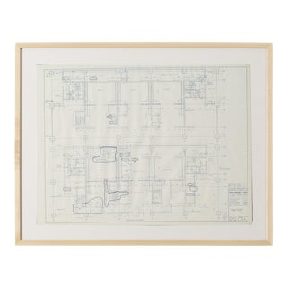 Mies Van Der Rohe Blueprint, One Illinois Center 111 E. Wacker Chicago, 1968 For Sale
