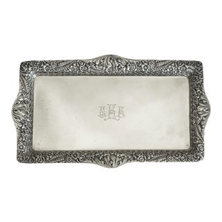 Victorian Tiffany & Co. Sterling Silver Repousse Letter Tray For Sale