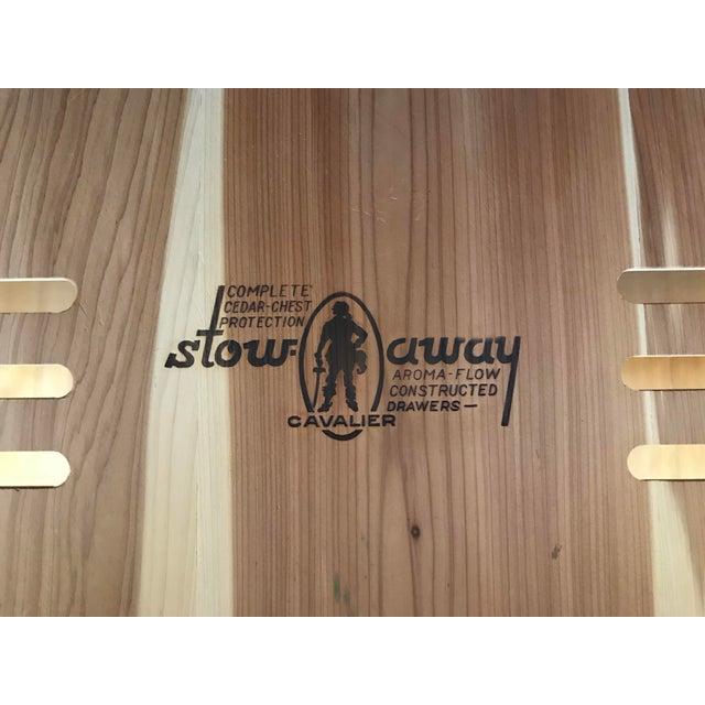 Vintage Cavalier Stow Away Cedar Dresser For Sale - Image 12 of 13