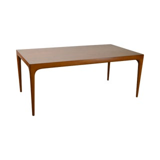 Danish Modern Mid Century Teak Dining Table With Leaf