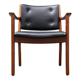 Mid Century Modern W H Gunlocke Walnut Armchairs For Sale