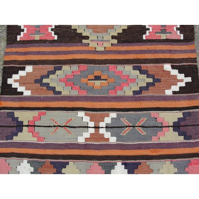 Vintage Turkish Kilim Rug - 2′8″ × 12′5″ For Sale - Image 5 of 11