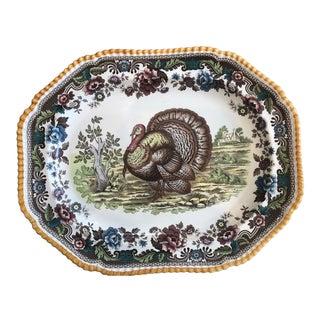 1980s Spode Oval Turkey Platter For Sale