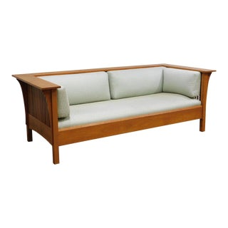 Stickley Mission Collection Cherry Spindle Settle For Sale