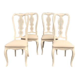 Vintage Shabby Chic Dining Chairs -Set of 4 For Sale