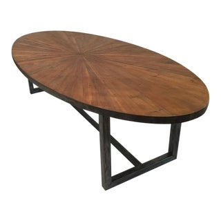 English Pine Starburst Table For Sale