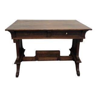 Antique Wood Partners Desk / Console For Sale