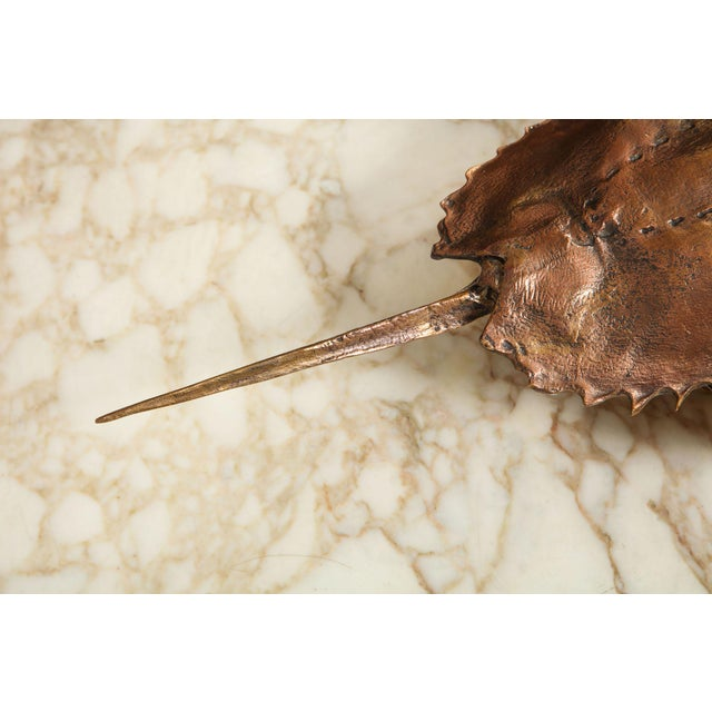 """Not Yet Made - Made To Order Bespoke """"Limule"""" Horse Shoe Crab Bronze Sconce by Bernard Figueroa For Sale - Image 5 of 7"""