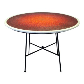 Sunburst Mosaic Marble Top Dining Table Attributed to Vladimir Kagen For Sale