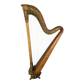 Early 19th Century Sebastian Erard Grecian Model English Harp For Sale