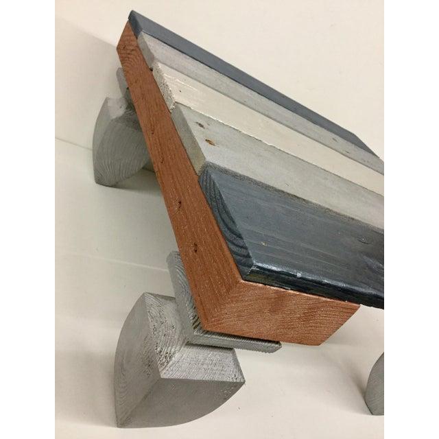 Industrial Reclaimed Hardwood Meditation Table For Sale - Image 4 of 13