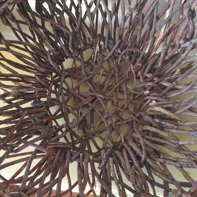 Artisan Wood Branch Nest Basket - Image 6 of 9