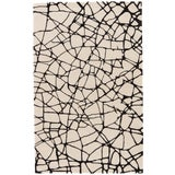 Image of Nikki Chu by Jaipur Living Chandler Handmade Abstract Cream/ Black Area Rug - 2′ × 3′ For Sale