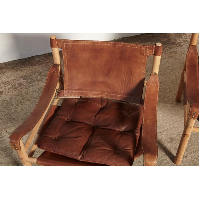 Pair of Arne Norell Sirocco Safari Chairs, Norell Mobel, Sweden, 1970s For Sale - Image 12 of 13