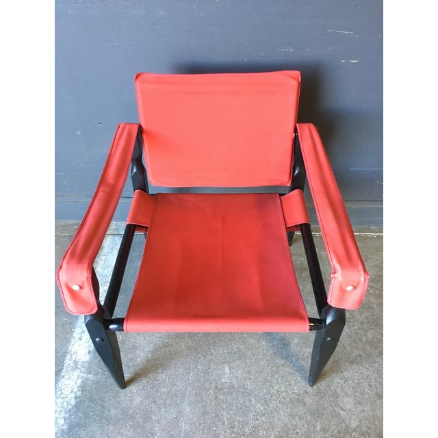 Red 1980's Red Safari Chair For Sale - Image 8 of 11