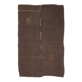 Vintage Brown Goat Hair Kilim Rug For Sale