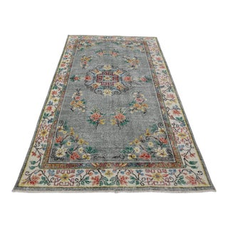Handmade Double Knotted Floor Turkish Rug For Sale