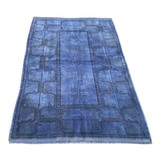 Hand Knotted Vintage Overdyed Rug