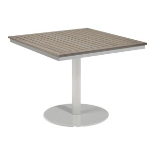 """38"""" Square Outdoor Bistro Table, Vintage For Sale"""