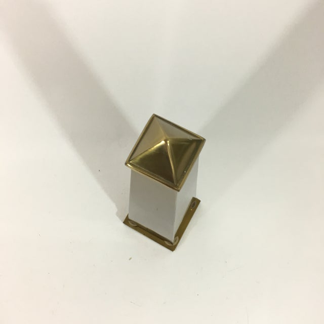 Brass Pyramid Obelisk For Sale - Image 9 of 10