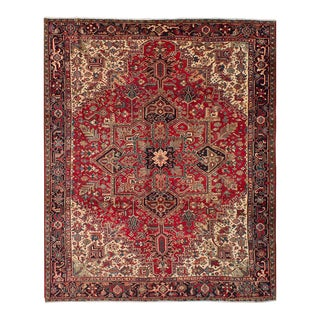 "Heriz Persian Rug, 9'5"" x 11'9"" feet"
