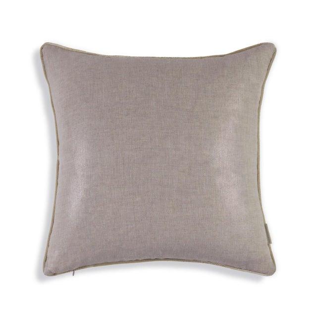 Metallic Linen Swallow Garden Pillow For Sale - Image 4 of 4