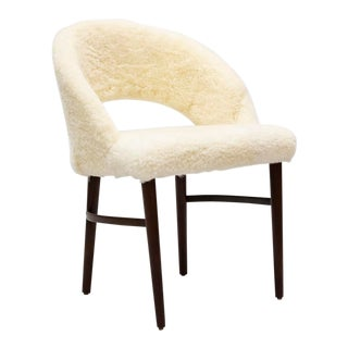 Mid 20th Century Frode Holm Sheepskin Vanity Chair For Sale