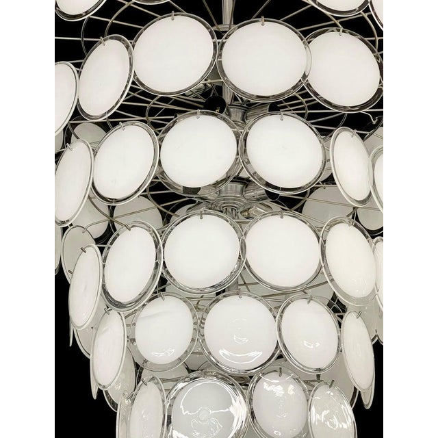Pair of Mid-Century Modern Style Murano Glass Chandelier For Sale - Image 4 of 10