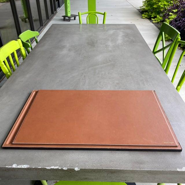 Brown Ralph Lauren Brennan Leather Desk Blotter For Sale - Image 8 of 12