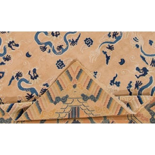 "Apadana - Antique Tan and Blue Chinese Peking Rug, 6'7"" x 9'7"" Preview"