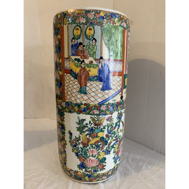 Mid 19th Century Chinese Porcelain Cane Stand For Sale - Image 9 of 9