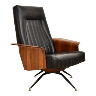 Vintage Walnut Plycraft Mr. Chair For Sale
