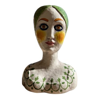 Horchow Italian Mid-Century Modern Head Vase For Sale