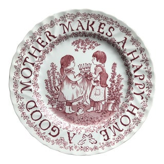 English Cottage Mother Celebration Holiday Plate