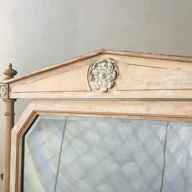 Late 19th Century 19th Century French Louis XVI Painted Vanity For Sale - Image 5 of 13