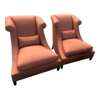 Baker Furniture Villa Club Chairs by Thomas Pheasant - a Pair For Sale