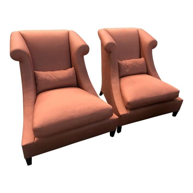 Baker Furniture Villa Club Chairs by Thomas Pheasant - a Pair For Sale
