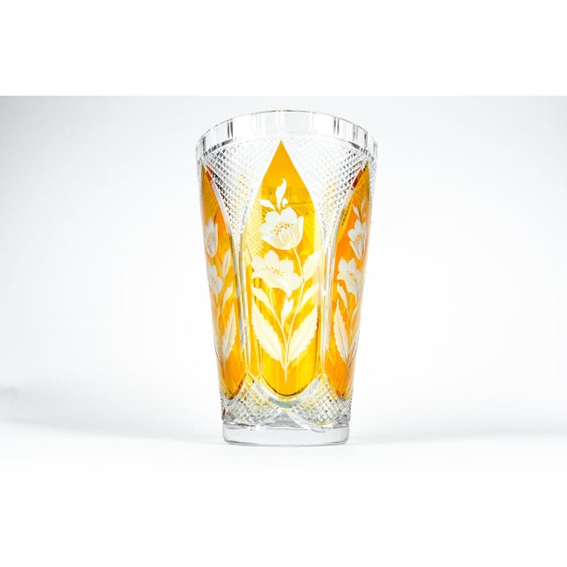 Cut-Crystal Vase For Sale - Image 10 of 11