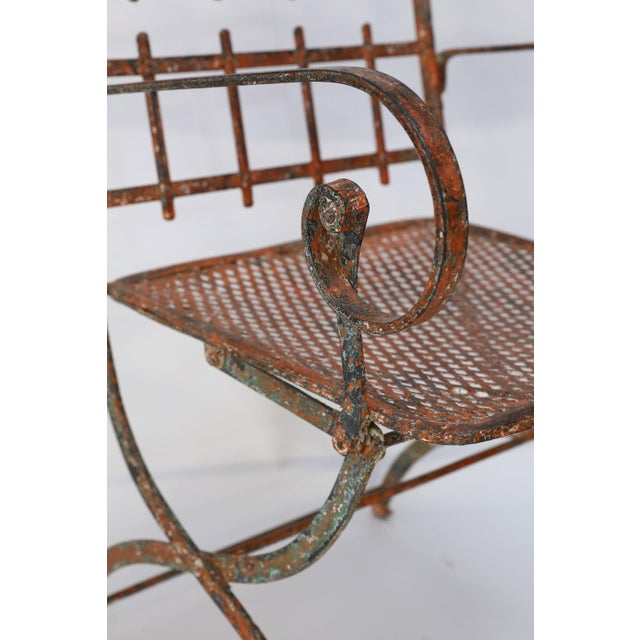 Pair of French Iron Garden Chairs For Sale In Houston - Image 6 of 13
