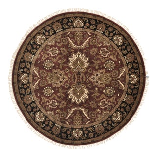 "Traditional Wool Round Rug - 4'11"" X 4'11"" For Sale"