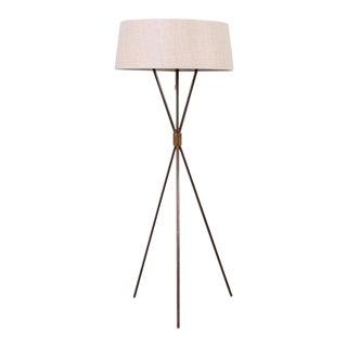 Patinated Brass Floor Lamp by T.H. Robsjohn-Gibbings