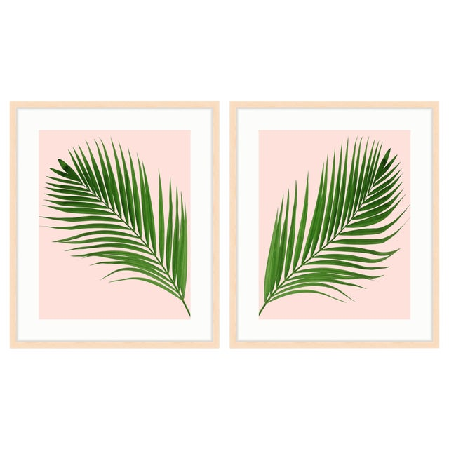 Set of 2 Framed Palm Prints (Diptych) - a Pair - Image 1 of 3