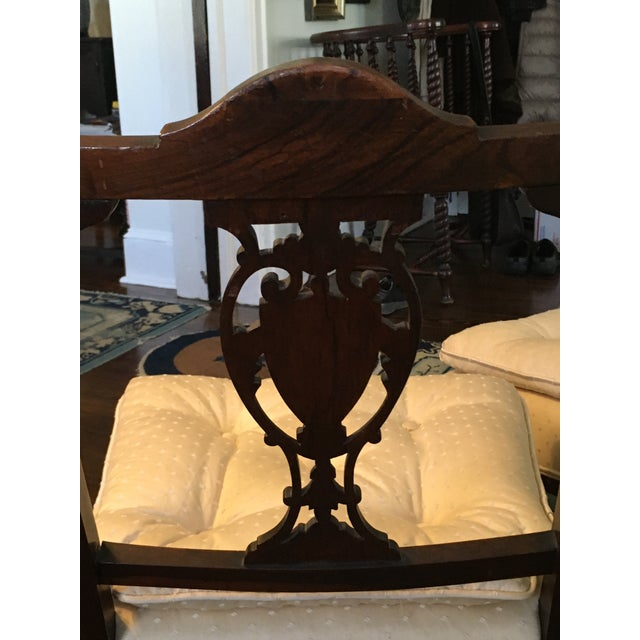 Antique Hepplewhite Shield Back Side Chairs - a Pair For Sale - Image 4 of 10
