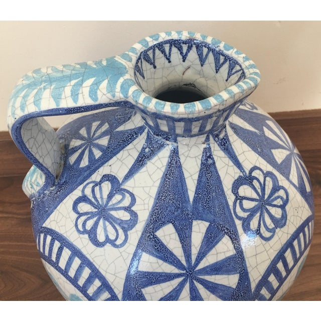 19th Century Glazed Pitcher in Blues and White - Image 4 of 7