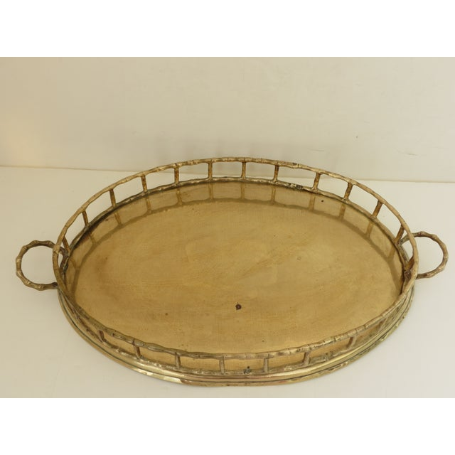 Brass Bamboo Tray For Sale - Image 5 of 7