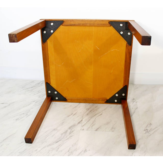 1960s 1960s Mid-Century Modern Gordon & Jane Martz Green Tile-Top Walnut Side Tables - a Pair For Sale - Image 5 of 9